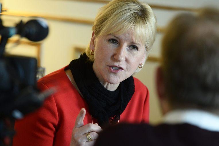 De Zweedse minister van Buitenlandse Zaken Margot Wallstrom. Beeld afp