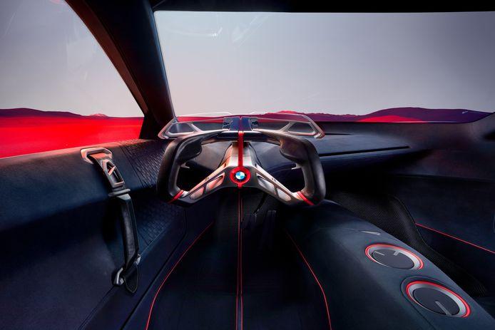 Studiemodel van een sportstuur van BMW. Dat lijkt al sterk op een stuur uit de Formule 1.