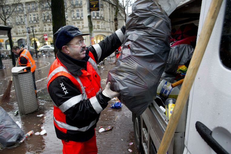 Vuilnisman in Amsterdam Beeld anp