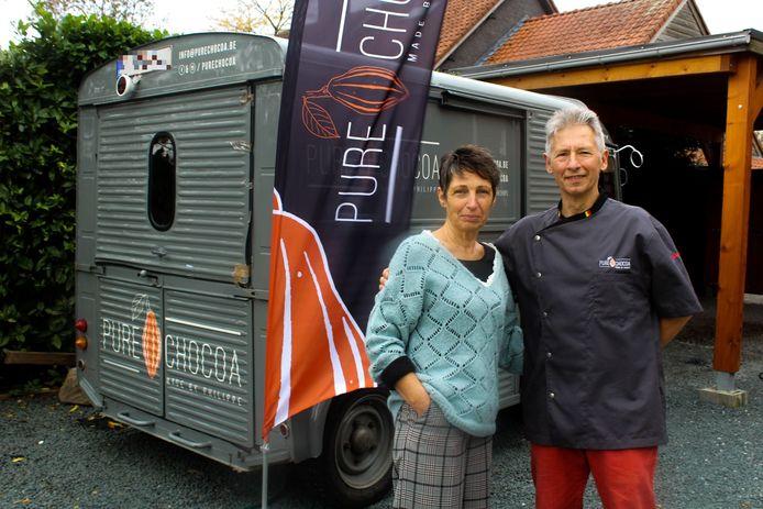 Philippe en Marleen van chocoladebedrijf Pure Chocoa.