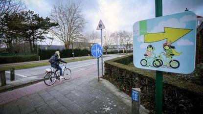 Veiliger naar school dankzij fietsroute