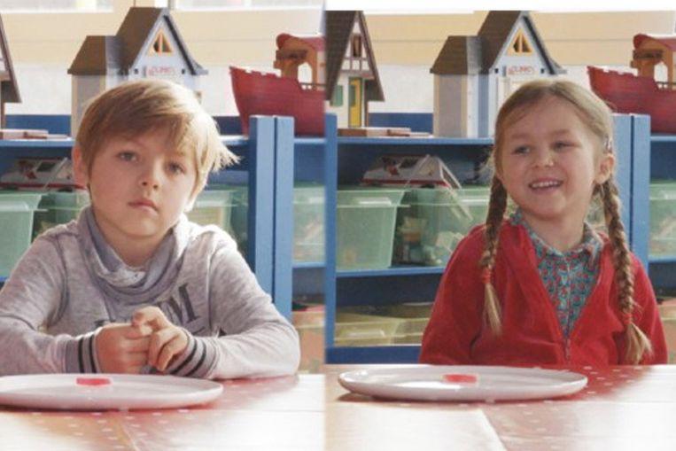 De kindjes van Mathias: Marcel en Lowis.