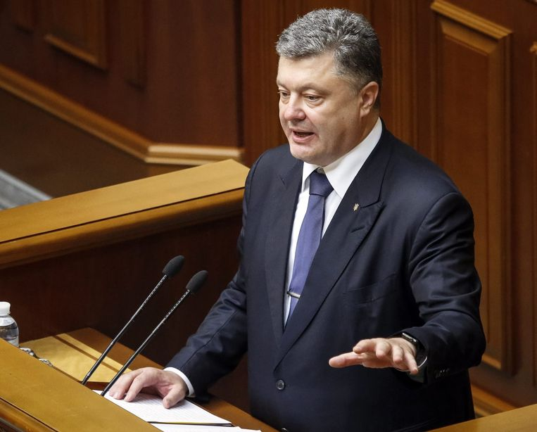 De Oekraïense president Petro Porosjenko.