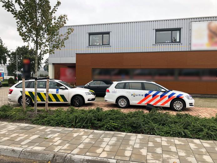 Een controle op het bedrijventerrein van Westervoort (foto ter illustratie).