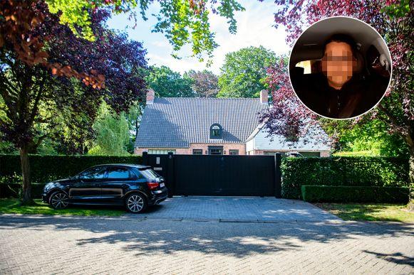 De bewuste villa van Mireille Gram in Schoten.