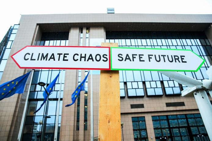 Milieuactivisten voerden vorige week actie in Brussel.