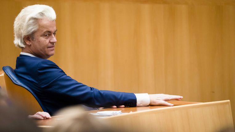 Geert Wilders (PVV) kan de komende maanden niet achterover leunen. Beeld ANP