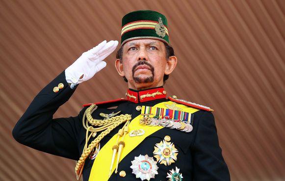 Sultan Hassanal Bolkiah van Brunei op zijn 68ste verjaardag in 2014.
