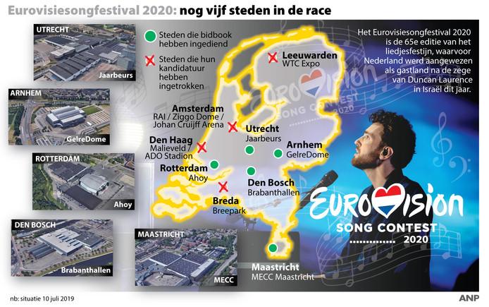 Vorige week waren er nog vijf steden  in de race om volgend jaar het Eurovisiesongfestival te huisvesten.