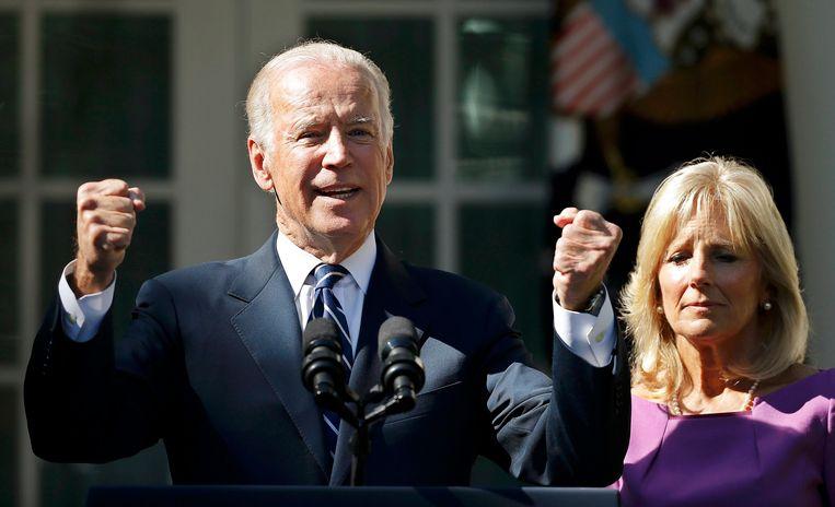 Biden met zijn vrouw Jill.