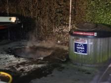 Ondergrondse container vat vlam in Nijnsel