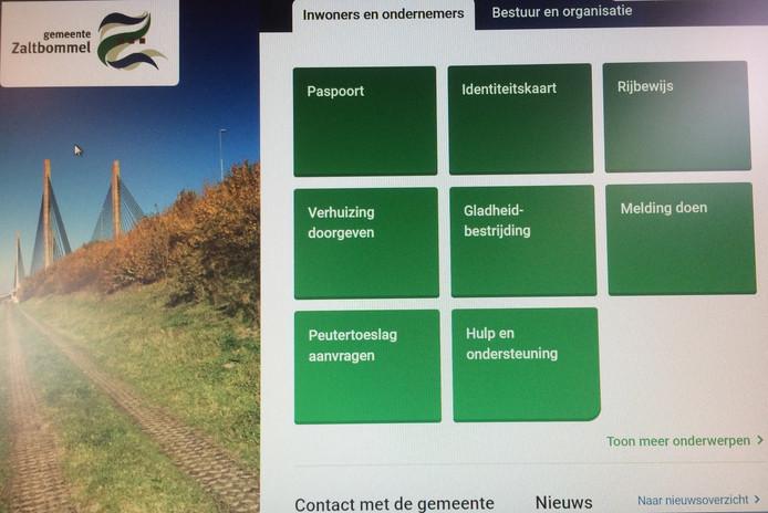 De nieuwe website van de gemeente Zaltbommel