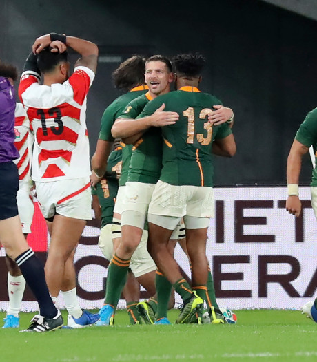 Zuid-Afrika beëindigt rugbydroom van gastland Japan