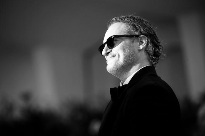 Joaquin Phoenix  bij de première in Venetië