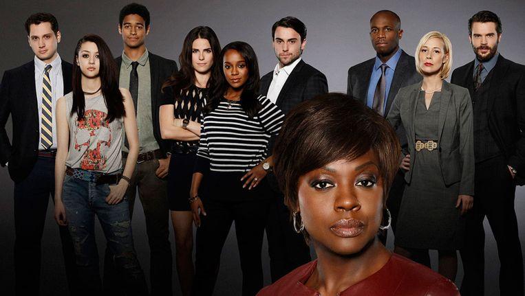 De cast van How to get away with murder, met op de voorgrond actrice Viola Davis. Beeld Disney