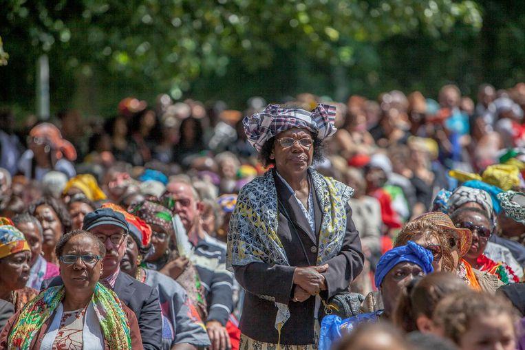 Nationale herdenking van het slavernijverleden in het Amsterdamse Oosterpark Beeld Hollandse Hoogte