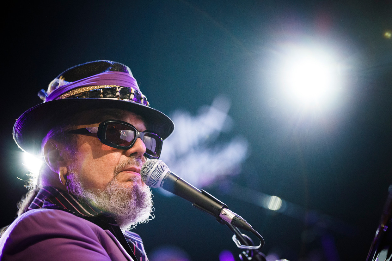 Dr. John bij een optreden in Zwitserland in 2014