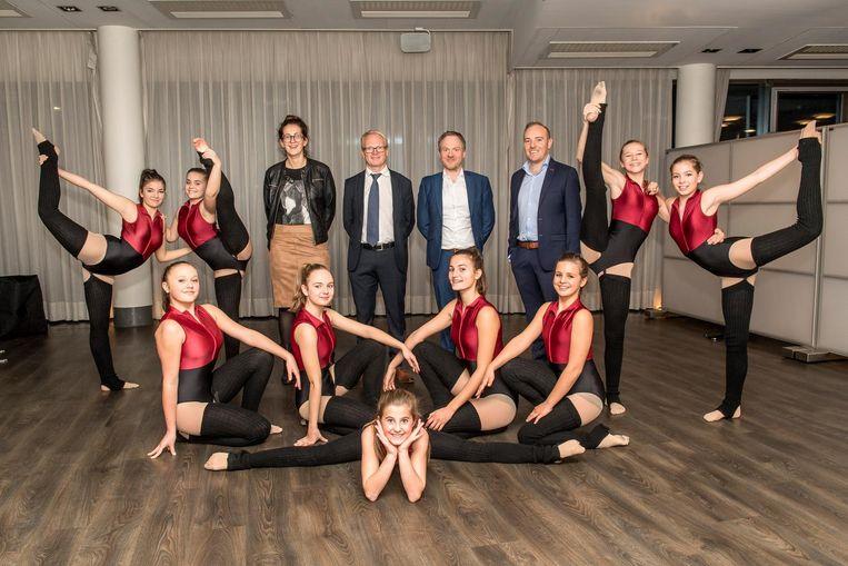 MSKA-directeurs Lieselot Vermeeren, Fangio Hoorelbeke en Joeri Manhout en artistiek directeur van de Hypnosis Dance Academy Steve Burggraeve lanceren samen de nieuwe opleiding De Dansacademie.