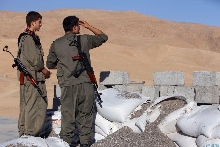 Koerdische strijders in het noorden van Irak Beeld belga