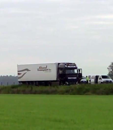 Overvallen truck werd 20 kilometer gevolgd door drie auto's