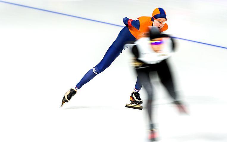 Esmee Visser tijdens de Spelen van 2018. Beeld Klaas Jan van der Weij / de Volkskrant