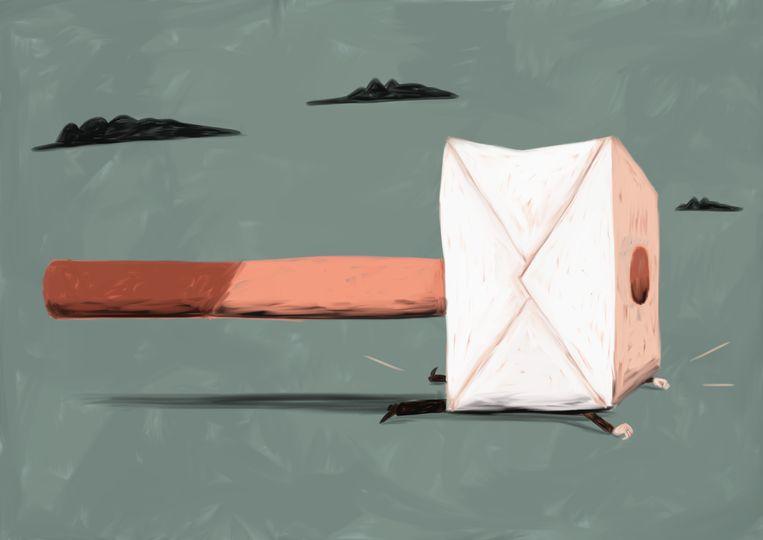 Een brief op de mat: u heeft te veel uitkering ontvangen, u moet een deel terugbetalen.  Beeld Nanne Meulendijks
