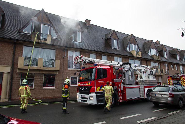 Brand in appartement in Tielt