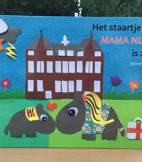 Prentenboek Oldenzaalse leerkracht voor kinderen (en nijlpaardjes) van zieke mama's