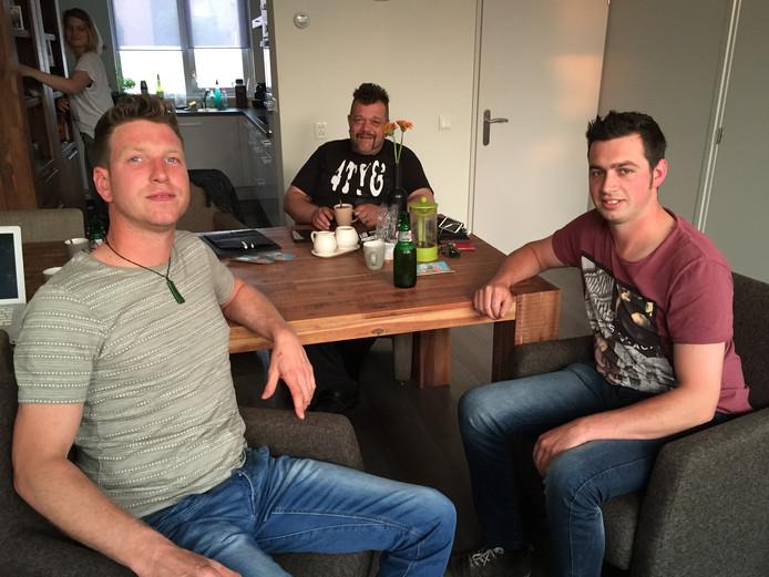 vlnr: Roy van der Heijden, René van Rooij en Paul van Lokven.