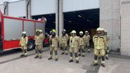 Brandweer houdt minuut stilte voor  overleden collega's uit Beringen