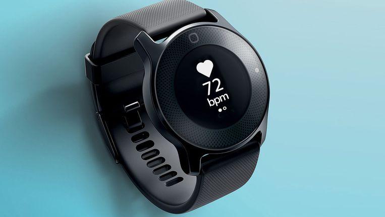 Philips Health Watch houdt met biometrische sensoren de gezondheid van de drager in de gaten. Beeld -