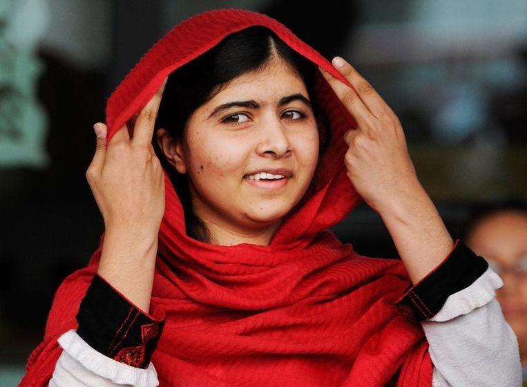 Malala Yousafzai, dinsdag bij de opening van de Library of Birmingham. Beeld epa