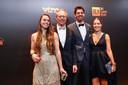 Michel Preud'homme met zijn zoon en dochters.