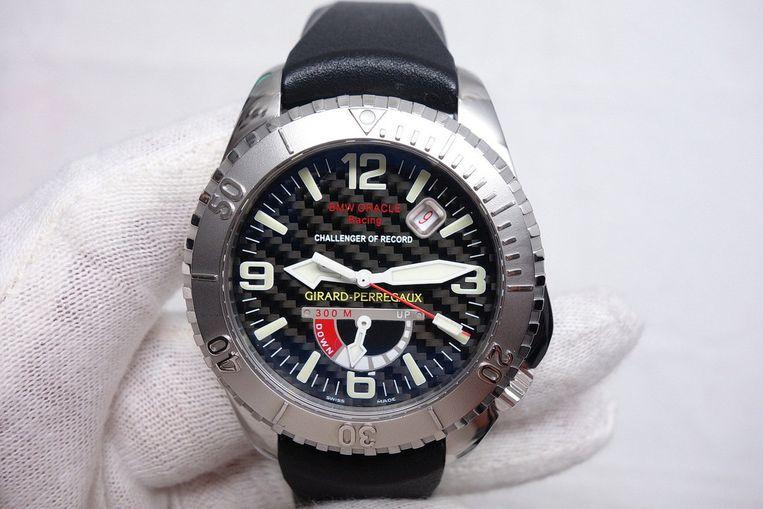 Product: Girard-Perregaux Sea-Hawk. 'Dit horloge is perfect ontworpen én gemaakt, die combinatie is zeldzaam.' Beeld .
