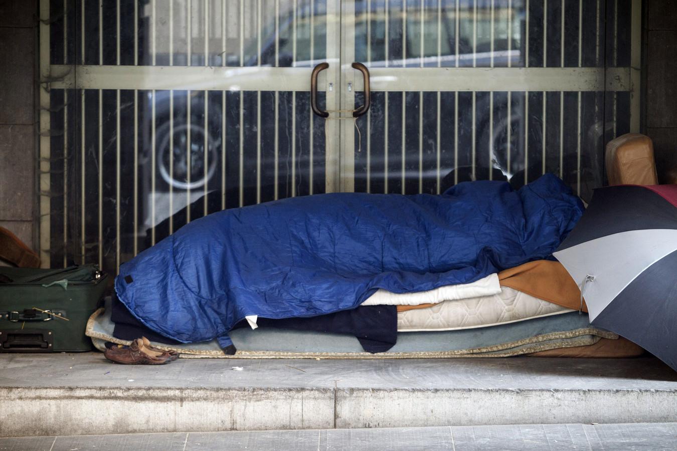 Foto ter illustratie. In Utrecht slapen enkele tientallen mensen permanent buiten.