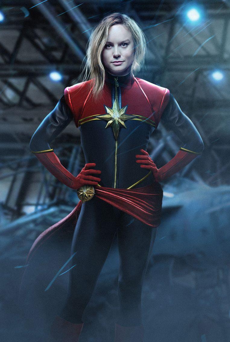 Supervrouwen: Brie Larson als Carol Danvers in Captain Marvel (2019).