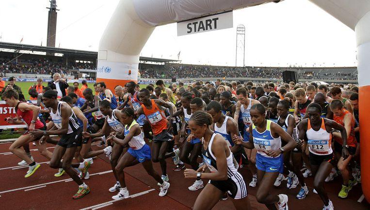 Start van de marathon in het Olympisch Stadion. ANP Beeld