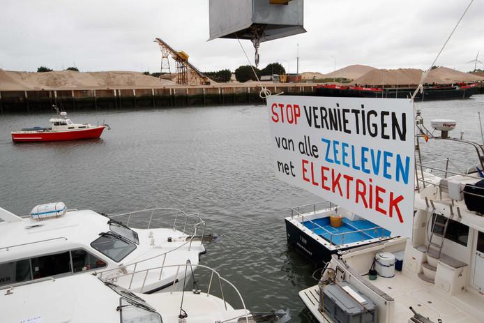 In juni werd in Nieuwpoort ook al eens geprotesteerd tegen de pulsvisserij.
