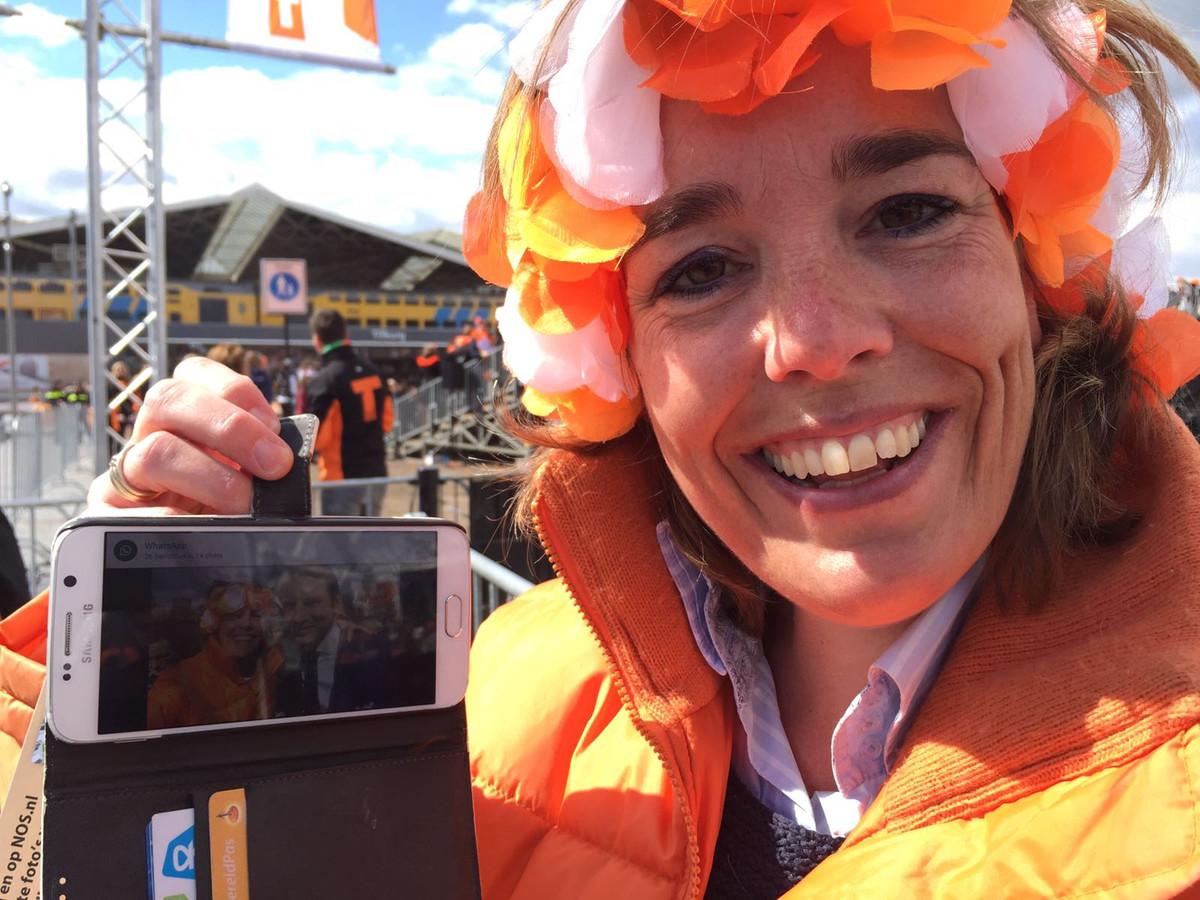 Sabine Lemmens selfie met Maurits.