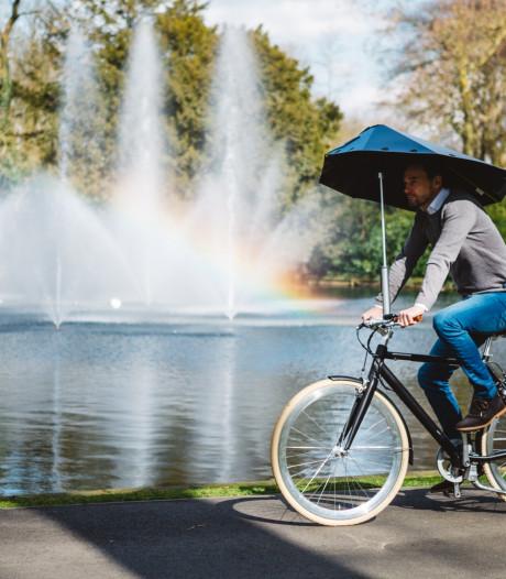 Bredase fietsparaplu is nog geen gelopen race