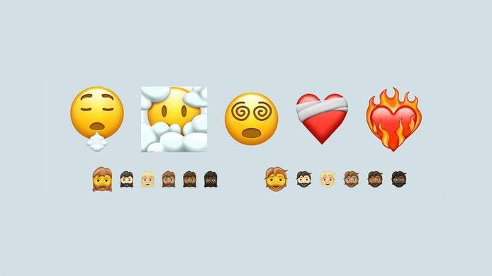 Een aantal van de nieuwe emoji's die volgend jaar zullen verschijnen.