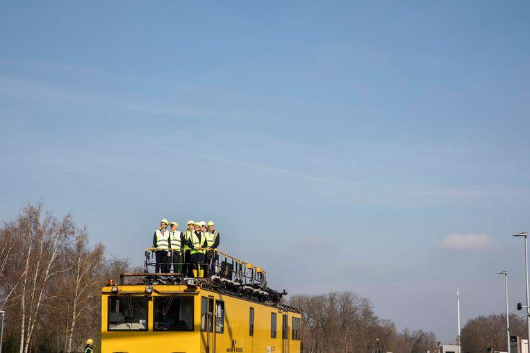 Eerste werken aan het station in Leopoldsburg.