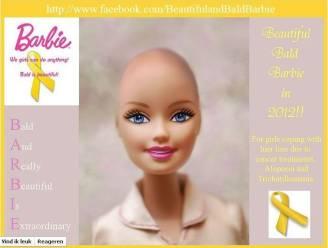 Mattel geeft toe: er komt een kale Barbie voor kankerpatiëntjes