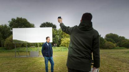 Gigantisch bewegende spiegel is nieuwste creatie van kunstenaar Gert Robijns