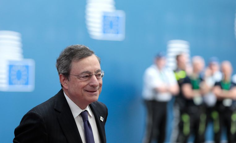 President Mario Draghi Beeld EPA