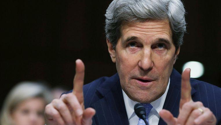 John Kerry tijdens de hoorzitting donderdag. Beeld getty