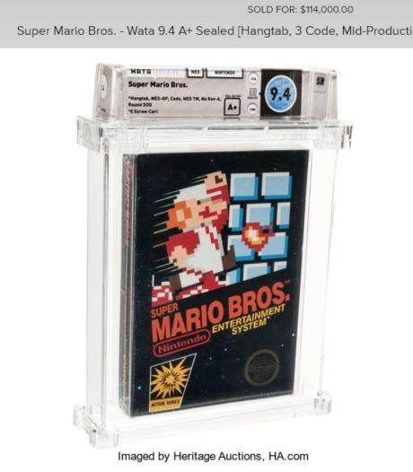 Als nieuw verpakte Super Mario Bros. is met meer dan 100.000 euro duurste videospel ooit