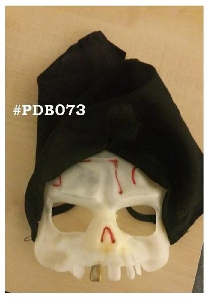 Het masker dat de jongen op had.