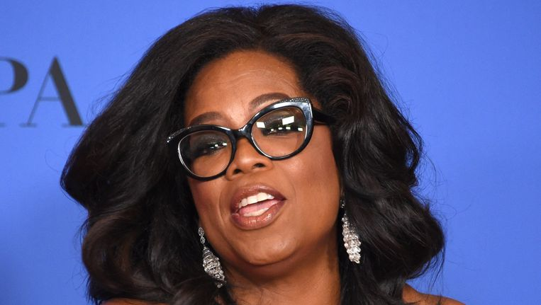 Oprah Winfrey bij de uitreiking van de Golden Globe Awards in Beverley Hills, 7 januari Beeld null