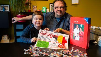 """Bert (59) en zieke zoon Pelle (12) organiseren allereerste BK Puzzelen: """"Opbrengst gaat naar onderzoek naar ziekte van Duchenne"""""""